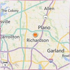 The University of Texas at Dallas Location Map